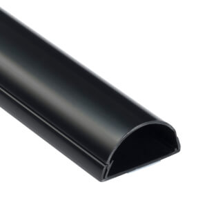 D-Line Maxi Decorative Self-Adhesive Cable Trunking - 50mm x 25mm x 1m, Black