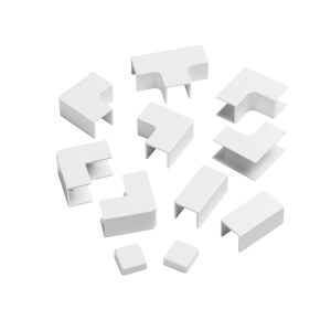 D-Line 16x16mm Trunking Clip-On Accessory Multipack - White