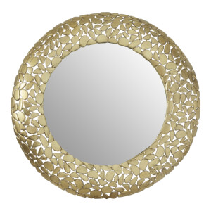 Temple Pebble Effect Round Wall Mirror