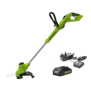 Greenworks 24V Linetrimmer With Battery Charger