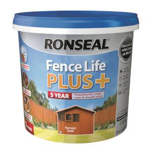 Ronseal Fence Life Plus - Harvest Gold 5L