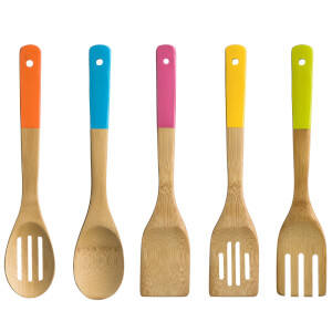 5 Piece Bamboo Kitchen Utensil Set