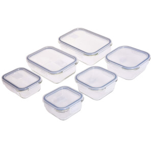 Glass Food Containers - 6 Piece Set