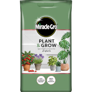 Miracle-Gro Plant & Grow Lightweight Compost for All Plants - 6L