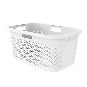 Curver Terrazzo Laundry Basket 47L - White