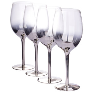 Ombre Wine Glasses - Silver - Set of 4