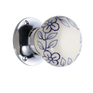 Sandleford Floreale Ceramic Mortice Knob Set