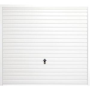 Horizontal 8' x 6' 6  Frameless Steel Garage Door White