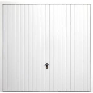 Vertical 8' x 7' Framed Steel Garage Door White