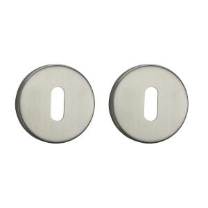 Sandleford Round Keyhole Escutcheon - Brushed Stainless Steel