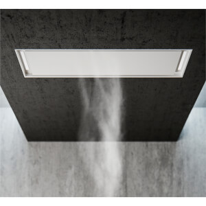 Inox Atmos 90cm Ceiling-Mounted Cooker Hood - Satin White