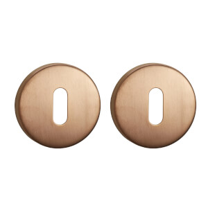 Sandleford Round Keyhole Escutcheon - Brushed Copper Stainless Steel
