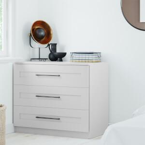 Modular Bedroom Shaker 3 Drawer Chest - Grey
