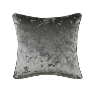Crushed Velvet Cushion - Grey