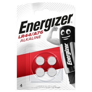 Energizer LR44 Alkaline  Button Batteries - 4 Pack