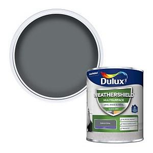 Dulux Weathershield Multi Surface Paint - Gallant Grey  - 750ml