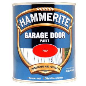 Hammerite Red - Garage Door Enamel Exterior Paint - 750ml