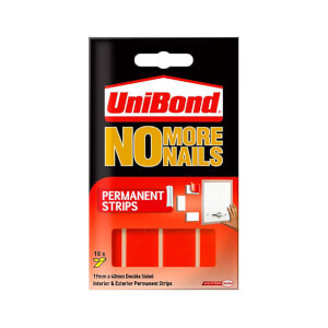 UniBond No More Nails Permanent Double Sided Strips - 10 Pack