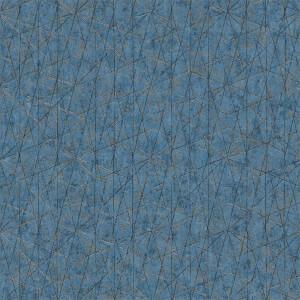 Grandeco  Wari Blue Wallpaper