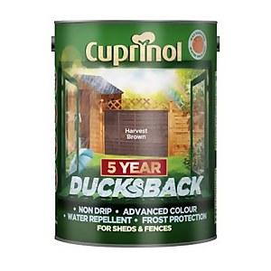 Cuprinol 5 Year Ducksback - Harvest Brown - 5L