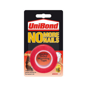 Unibond No More Nails on a Roll Exterior - Translucent - 19mm x 1.5m