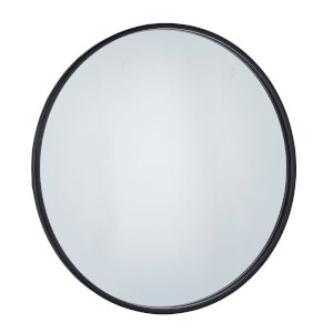 Cologne Black Round Framed Mirror