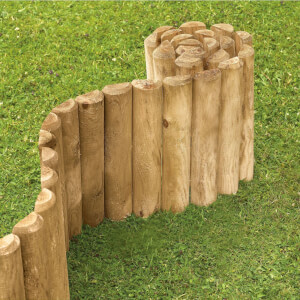 Softwood Economy Garden Border Log Roll - 1.25m