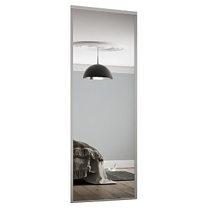 Classic Sliding Wardrobe Door Mirror with Silver Frame (W)762mm