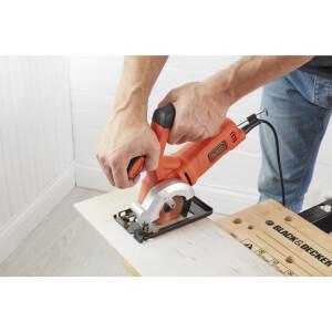 BLACK+DECKER Mini 400W Corded Circular Saw with Blades and Kit Box (BES510K-GB)