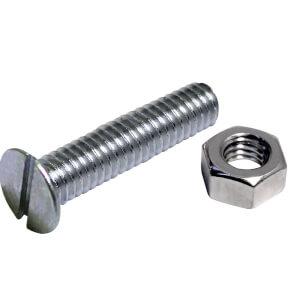 Machine Screw - Countersunk - Bright Zinc Plated - M5 70mm - 5 Pack