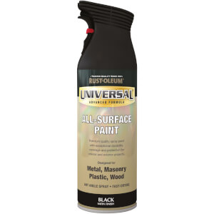 Rust-Oleum Universal Satin Spray Paint - Black - 400ml