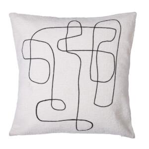 Abstract Natural Rope Cushion