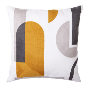 Embroidered Shapes Cushion