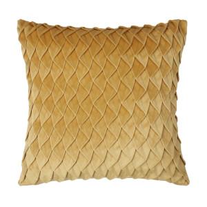 Velvet Pintuck Cushion - Honey