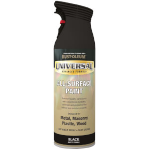 Rust-Oleum Universal Matt Spray Paint - Black - 400ml