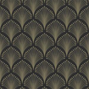Grandeco Layla Black Wallpaper