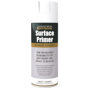 Rust-Oleum Surface Primer Spray Paint - White - 400ml