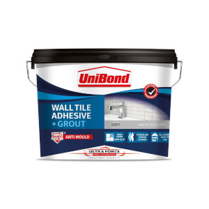 UniBond UltraForce Wall Tile Adhesive & Grout Grey 12.8kg