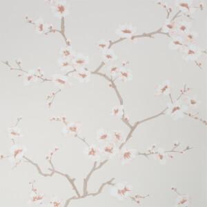 Fresco Apple Blossom Burnt Orange Wallpaper