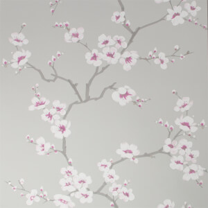 Fresco Apple Blossom Grey Wallpaper