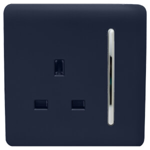 Trendi Switch 1 Gang 13Amp Switched Socket in Navy
