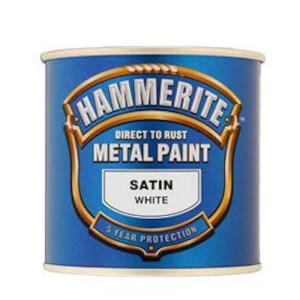 Hammerite White - Satin Exterior Metal Paint - 250ml