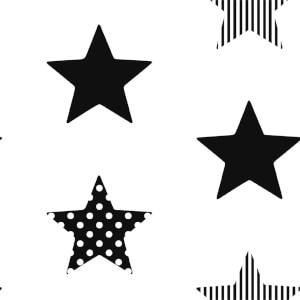 Superfresco Easy Superstar Black Wallpaper