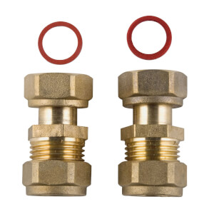 Compression Tap Connector - Brass - 15mm - 0.5in - 2 Pack
