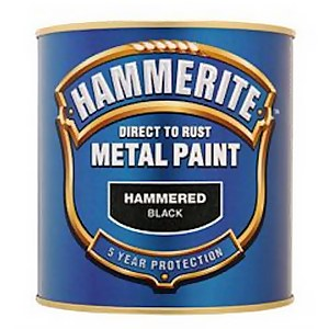 Hammerite Black - Hammered Exterior Metal Paint - 250ml