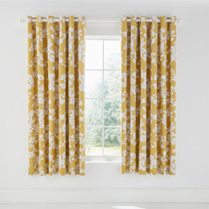 Bouvardia Lined Curtains 66x72 Honey