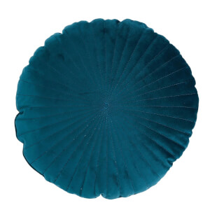 Round Velvet Cushion - Teal - 45cm