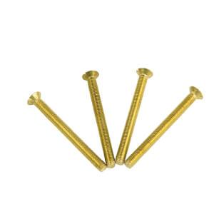 Electrical Screws 3.5 x 38mm Brass 4 Pack