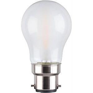 TCP LED Filament Frosted Mini Globe 4W B22 Light Bulb