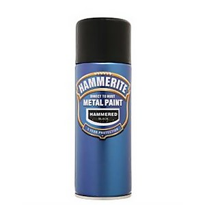Hammerite Black - Hammered Exterior Aerosol Paint - 400ml